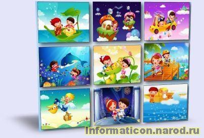 Дитячі фони шаблони для оформлення