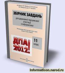 Завдання ДПА-2012 з інформатики. 11 клас + матеріали